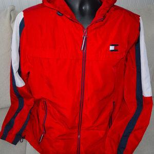 Tommy Hilfiger Windbreaker Jacket Red Flag Logo Lg